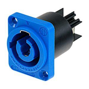 Панельный разъем Neutrik PowerCON 20 А синий