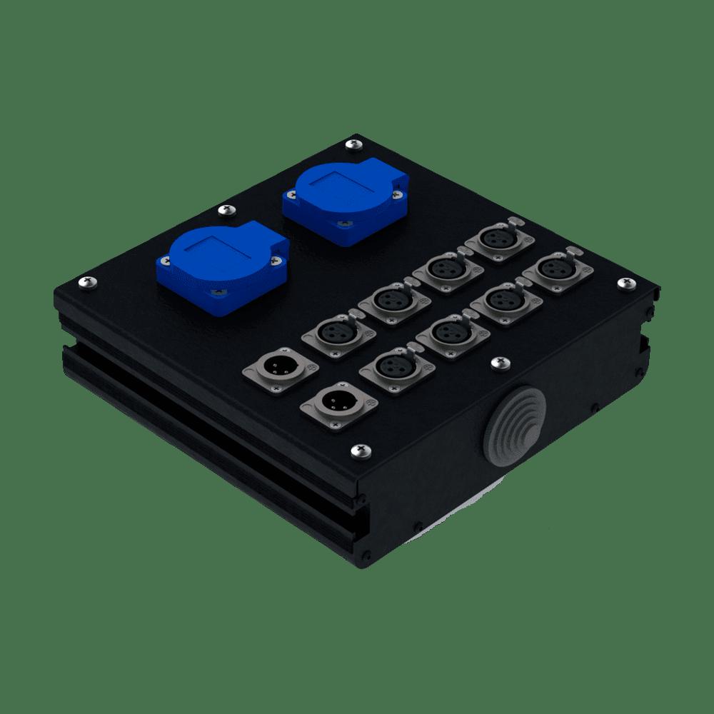 Коробка коммутационная проходная CB 02-8F-2M | EDS