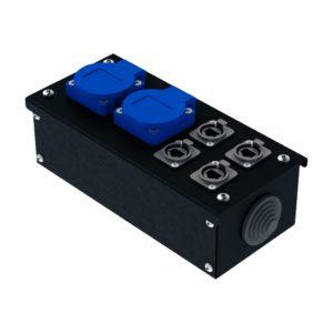 Коробка коммутационная проходная без профиля CB M02-4E   EDS