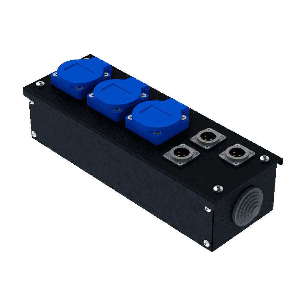 Коробка коммутационная проходная без профиля CB M03-3M | EDS