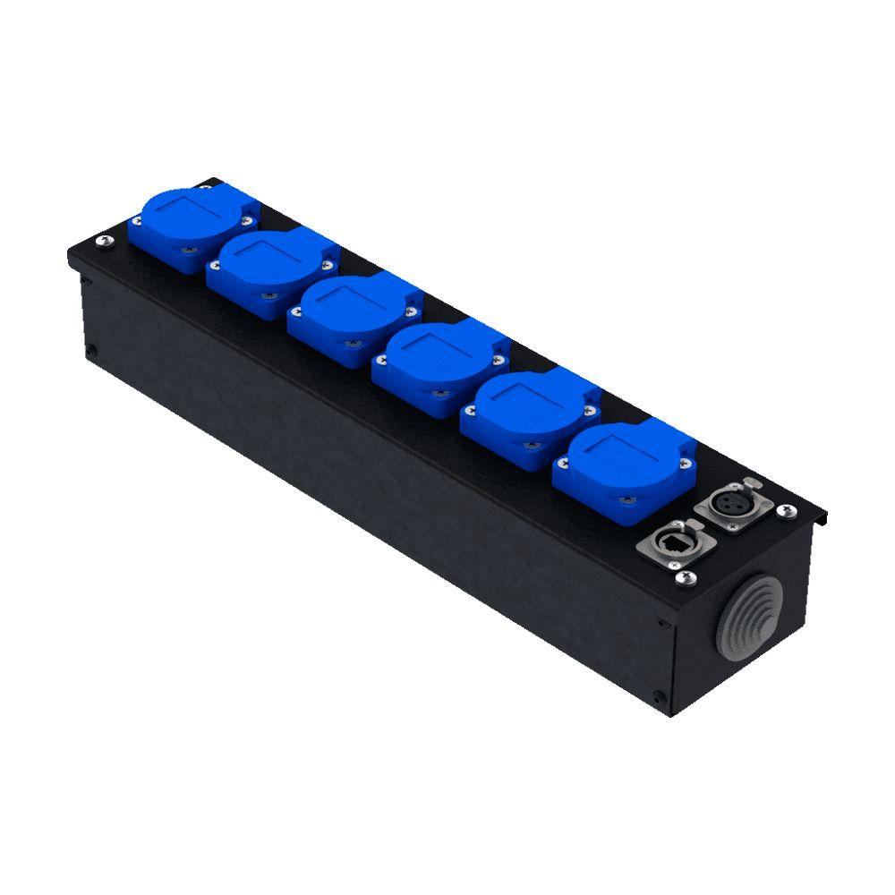 Коробка коммутационная проходная без профиля CB M06-F-E | EDS