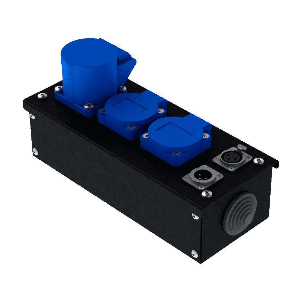 Коробка коммутационная проходная без профиля CB M12-F-M   EDS
